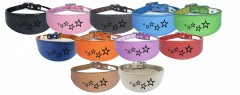 greyhound whippet collar real leather dog collar padded backing running hound